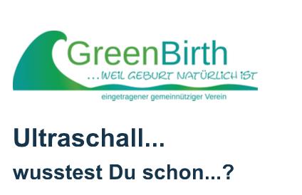 Artikel von GREENBIRTH e.V. zum Thema Ultraschall